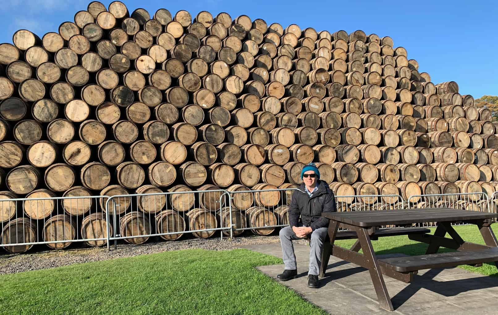 Speyside Cooperidge - Sitting by a pile of Whisky barrels