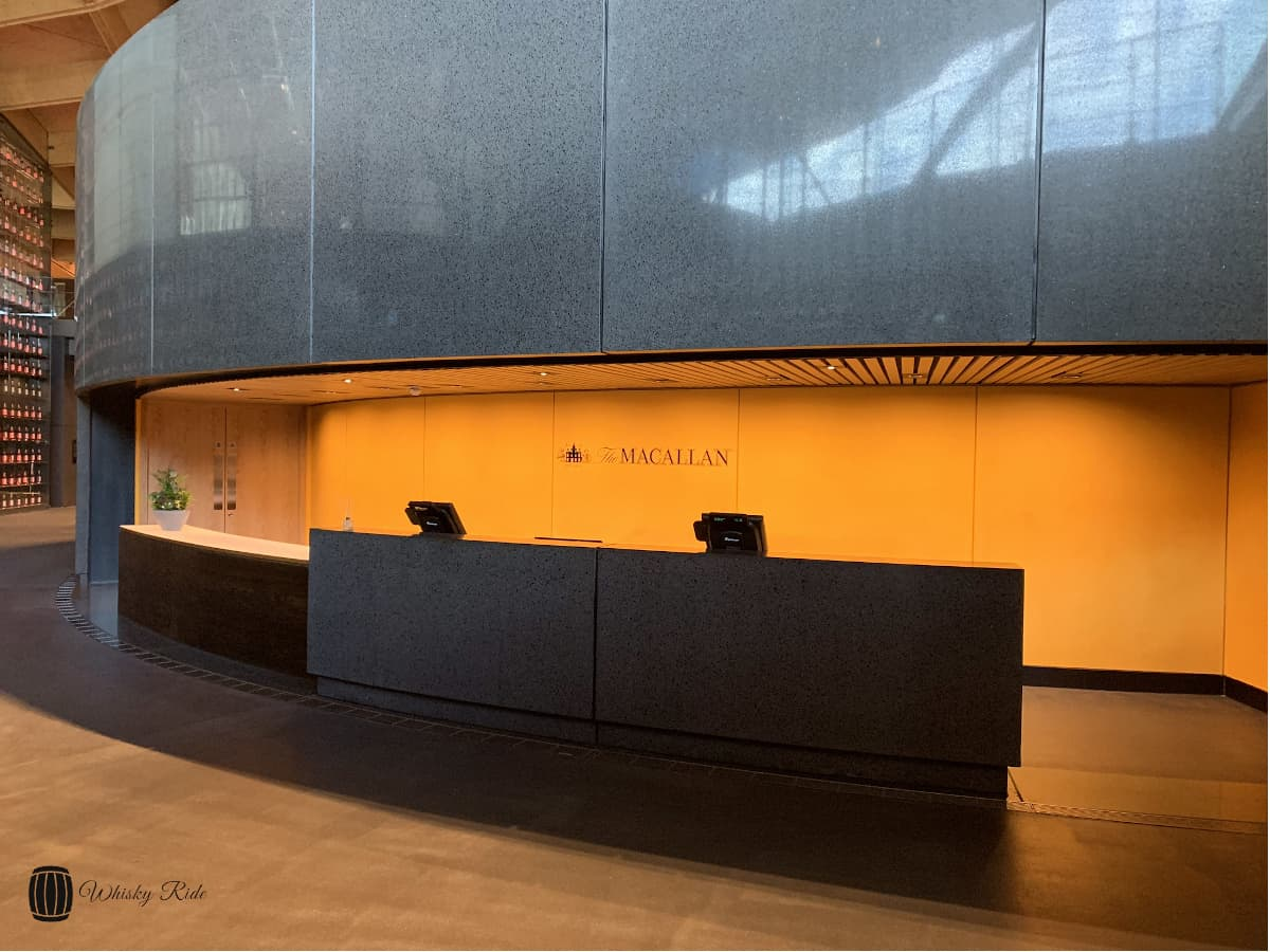 Macallan Entrance and Welcome Desk