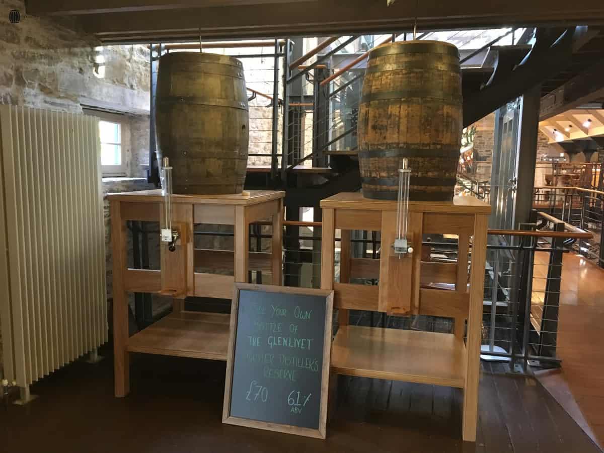 Glenlivet fill your own bottle from a cask
