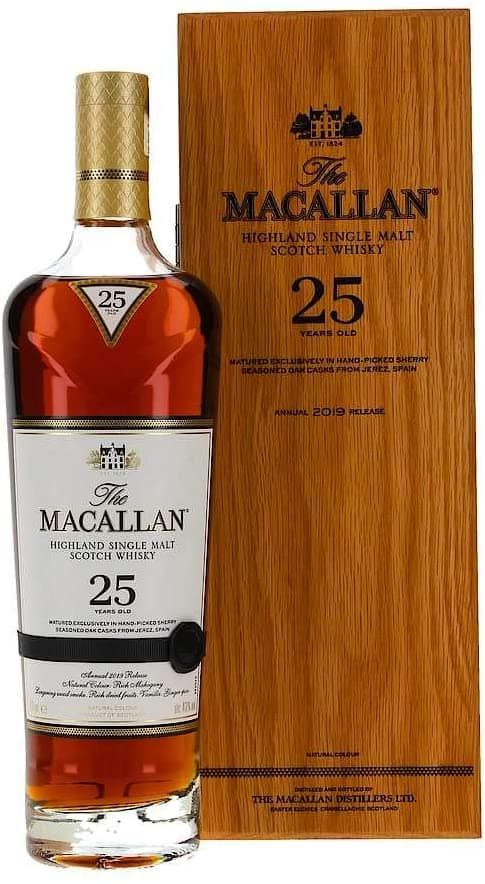 Macallan 25 with Wooden Box