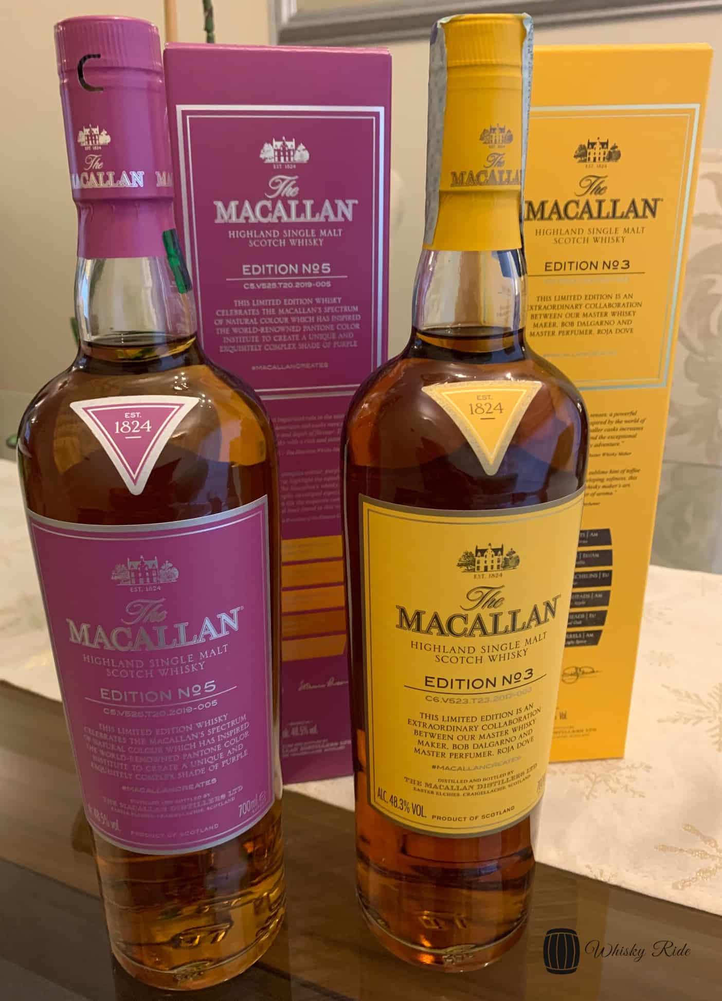 Macallan Edition 3 & 5