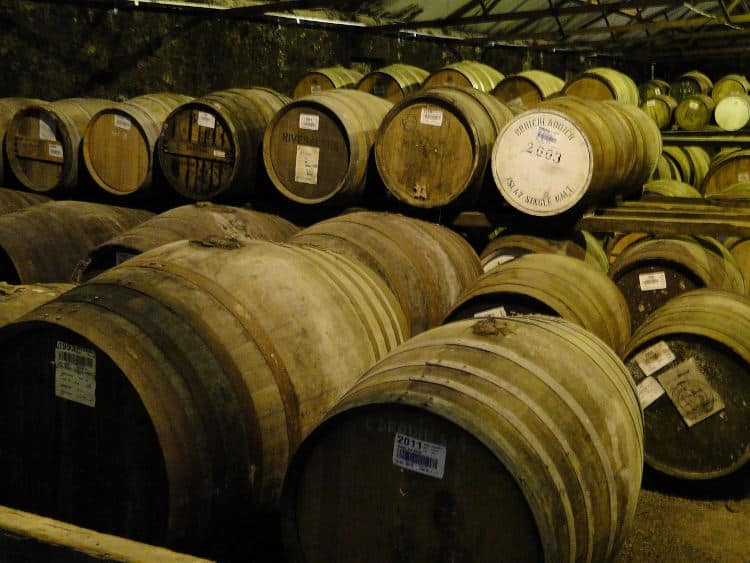 Scotch Whisky Barrels Maturing